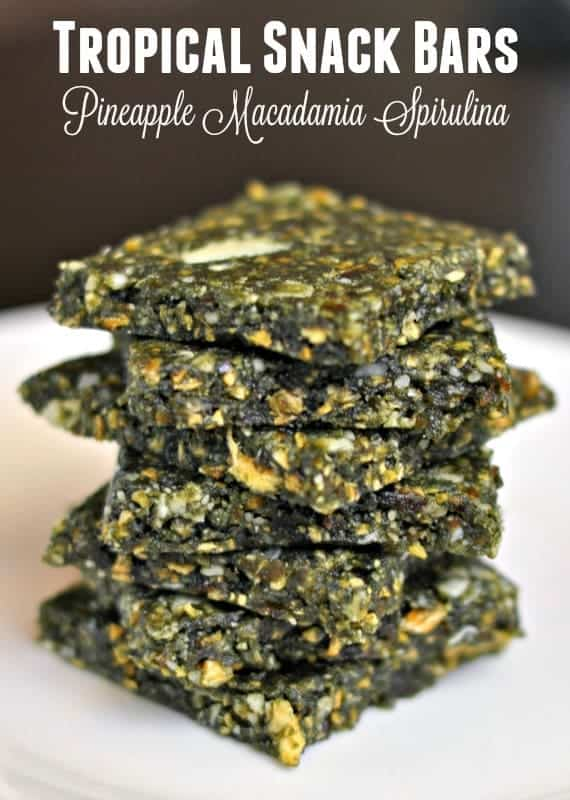 Tropical Pineapple, Macadamia and Spirulina Maxima Bars