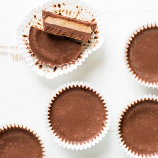 almond butter cups in muffin liners