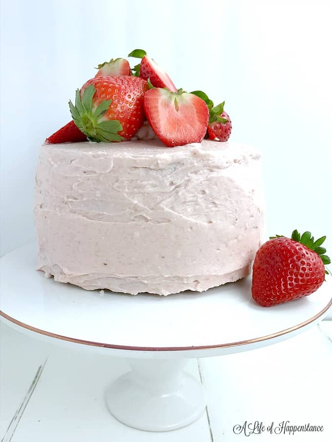 Strawberry Almond Flour Cake