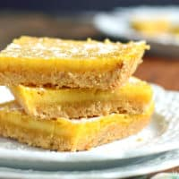 gluten-free lemon bars on a white plate