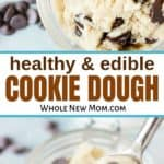 healthy cookie dough in glass jars