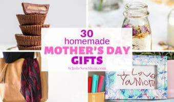 homemade mother's day gifts collage