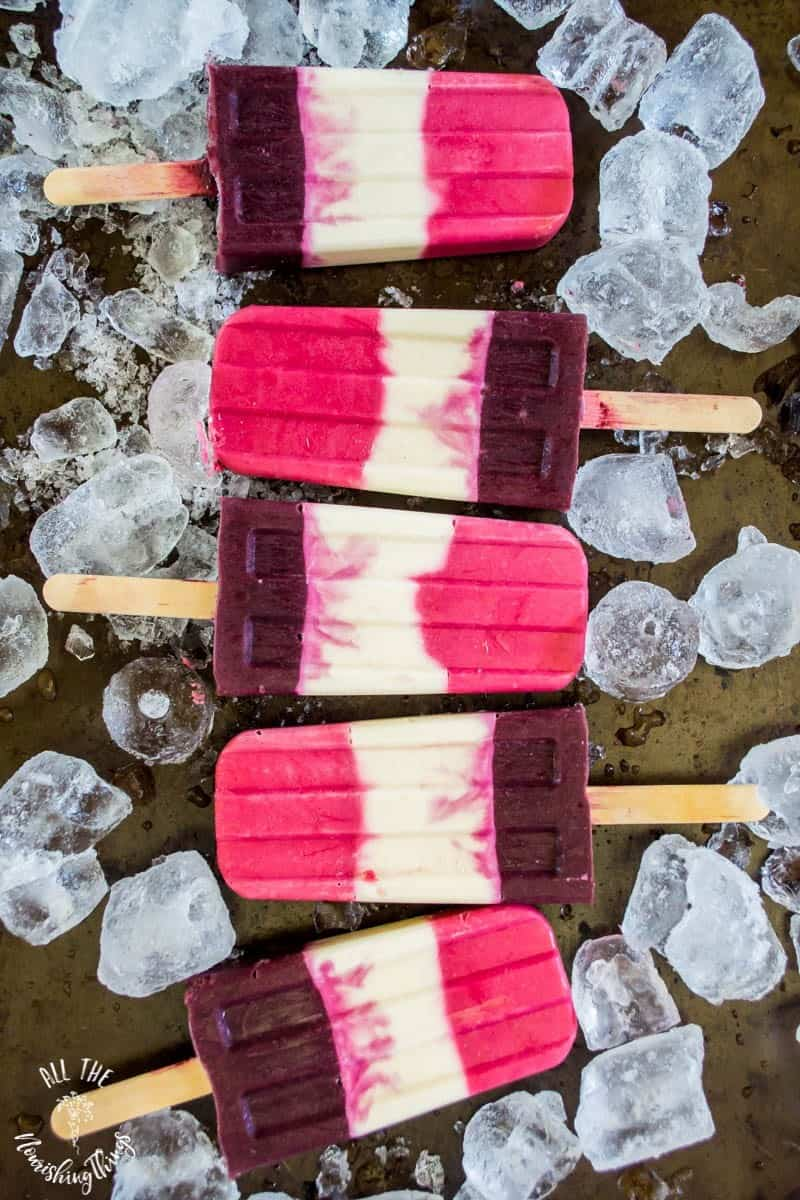 Keto Probiotic Berry Cheesecake Popsicles