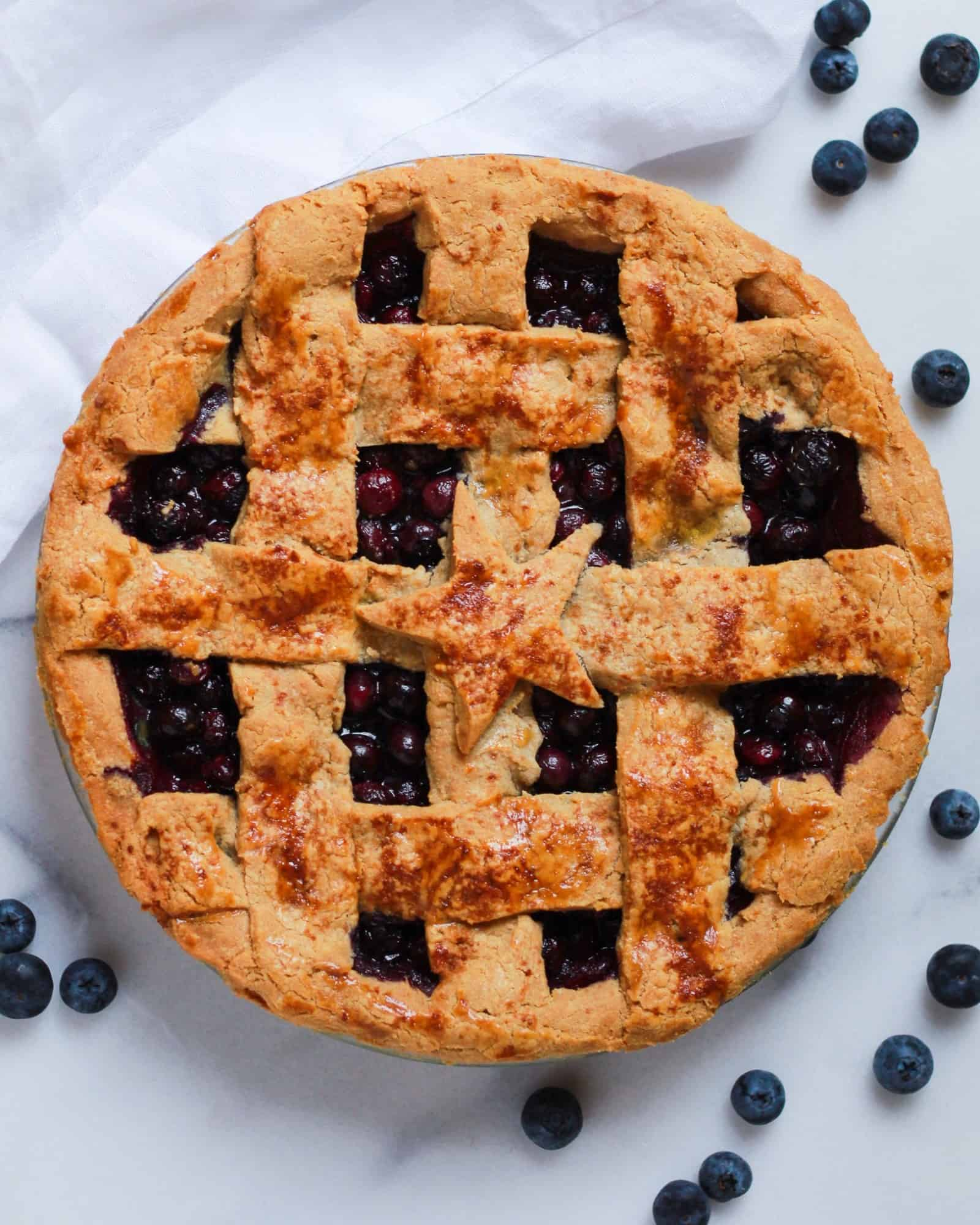 The Best Paleo Blueberry Pie