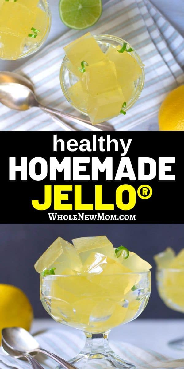 homemade jello in glass bowl
