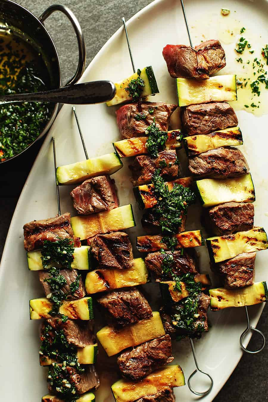 Steak Shish Kabob with Chimichurri
