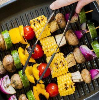 Easy Grilled Vegetable Kabobs
