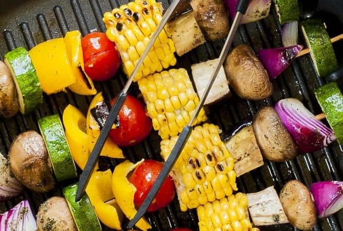Easy Grilled Vegetable Kabobs