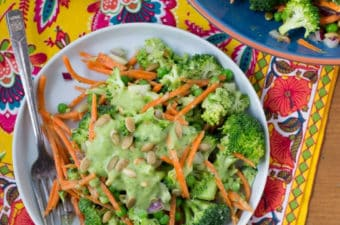 broccoli jicama salad with vegan avocado dressing