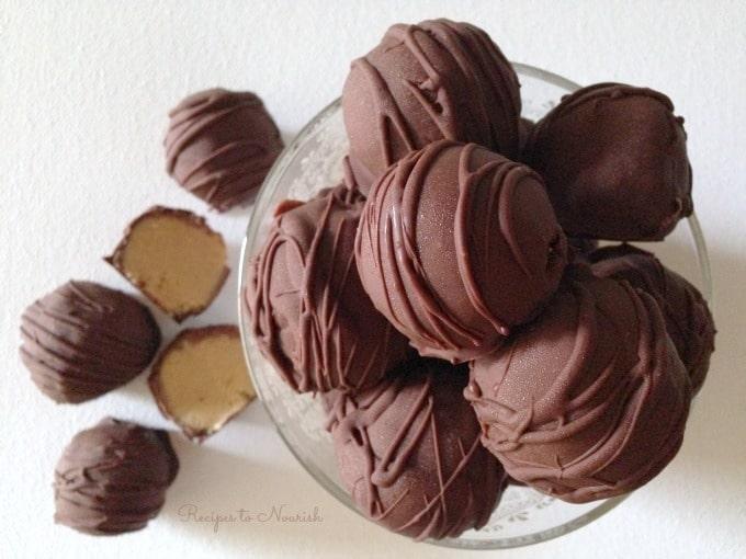 Healthy Chocolate Peanut Butter Truffles
