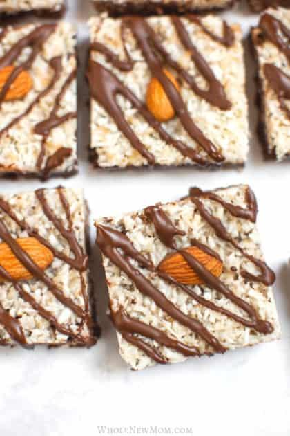 no bake almond joy bars