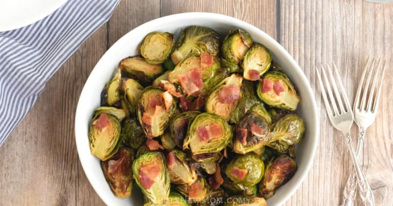 oven roasted brussels sprouts with bacon