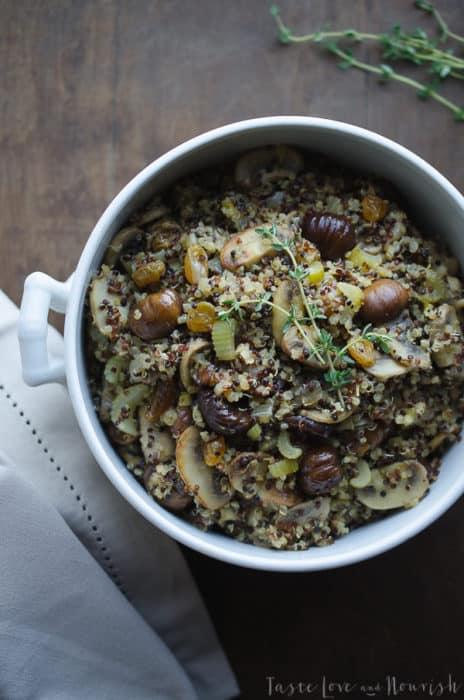 Quinoa Chestnut Stuffing