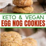 gluten-free egg nog cookies