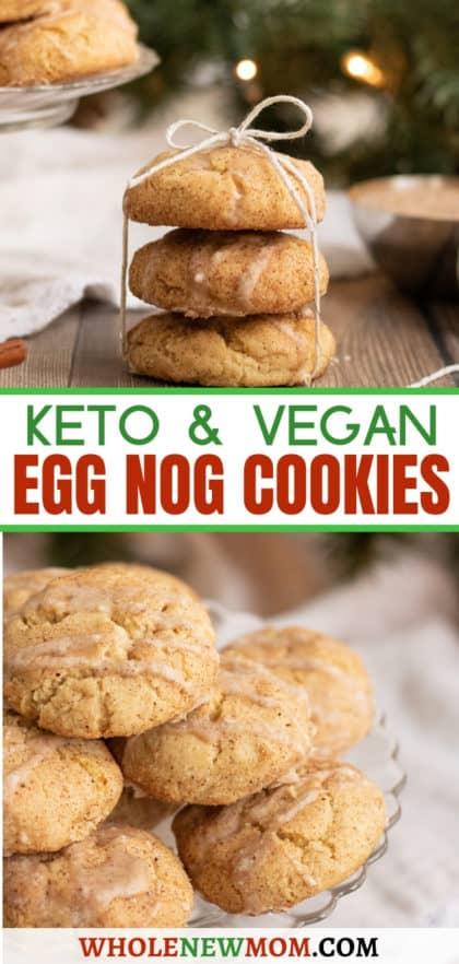 gluten-free egg nog cookies