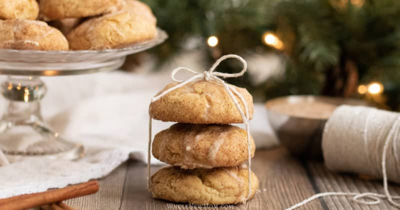 egg nog cookies tied with string