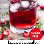 homemade cranberry juice in a glass