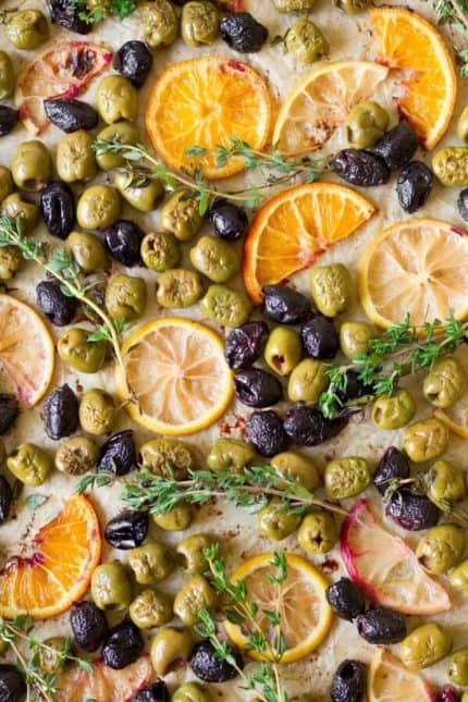 Roasted Maple Citrus Olives