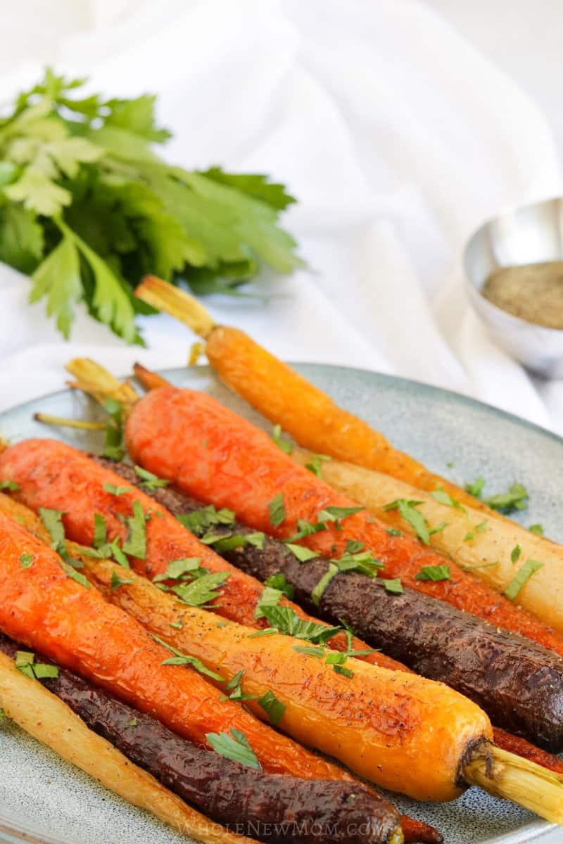 oven roasted rainbow carrots