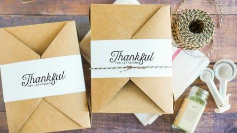 DIY thanksgiving leftover box labels