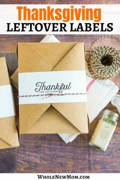 diy thanksgiving leftover labels