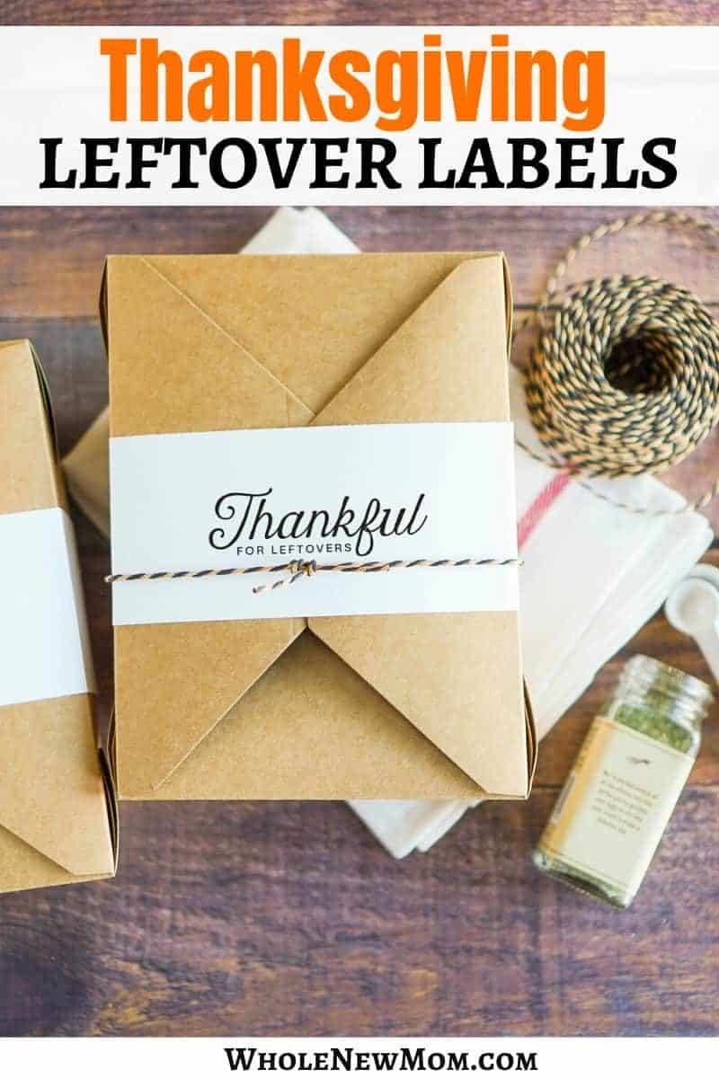 diy thanksgiving leftover labels
