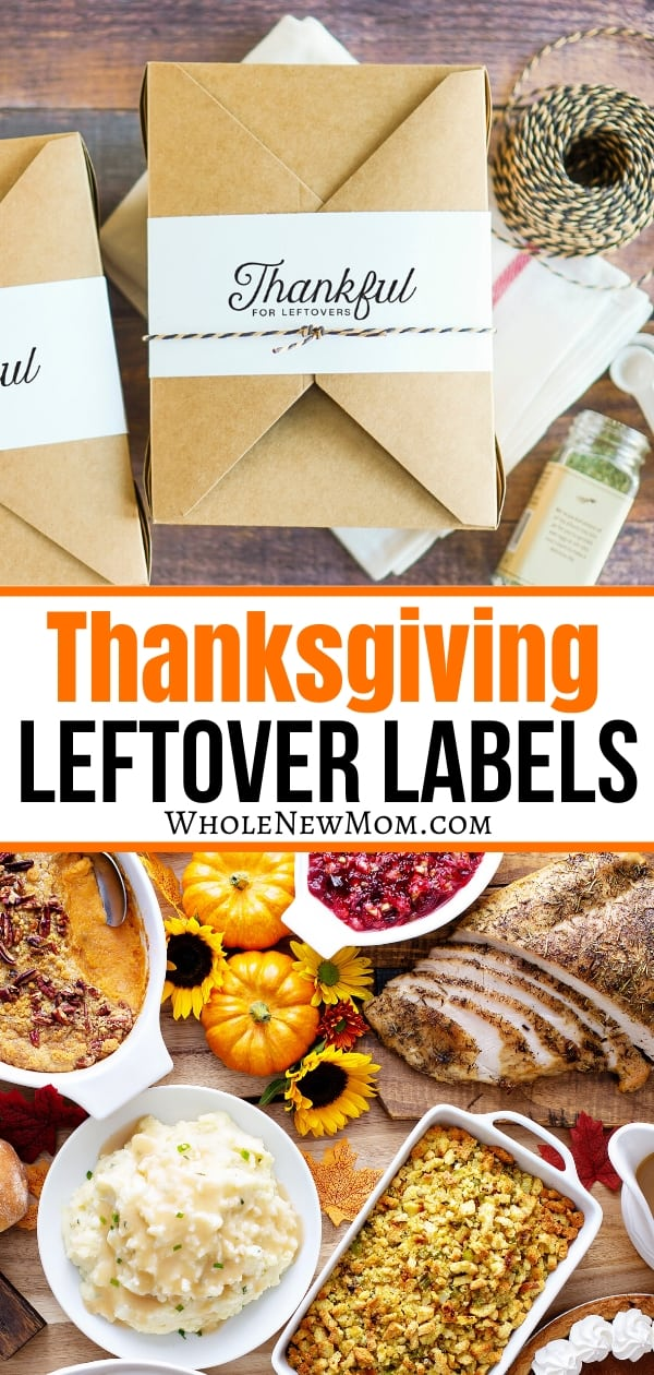 DIY thanksgiving leftover box labels