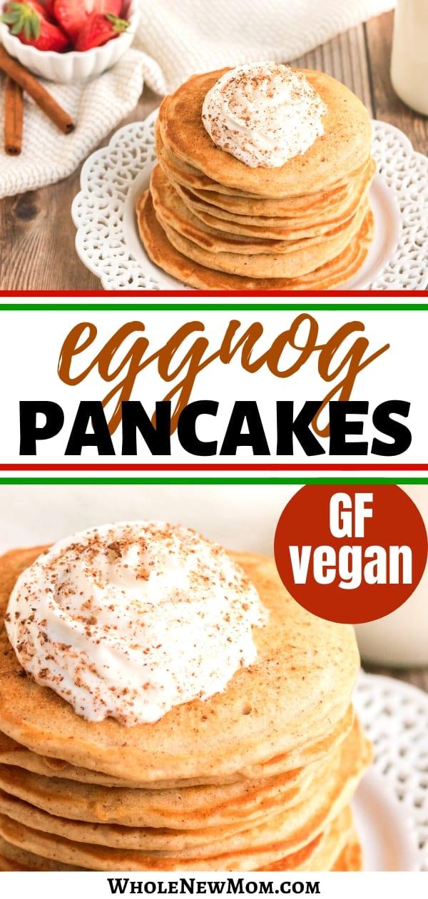 gluten-free eggnog pancakes