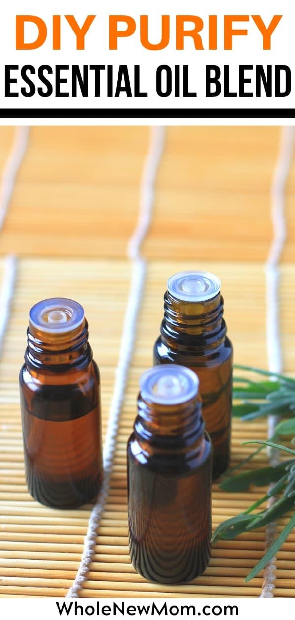 diy purify essential oil blend bottles