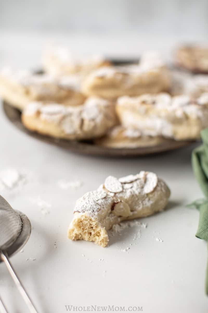 gluten-free almond crescent cookies