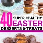 collage of healthy easter desserts