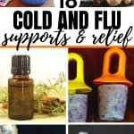 collage of natural cold and flu supports