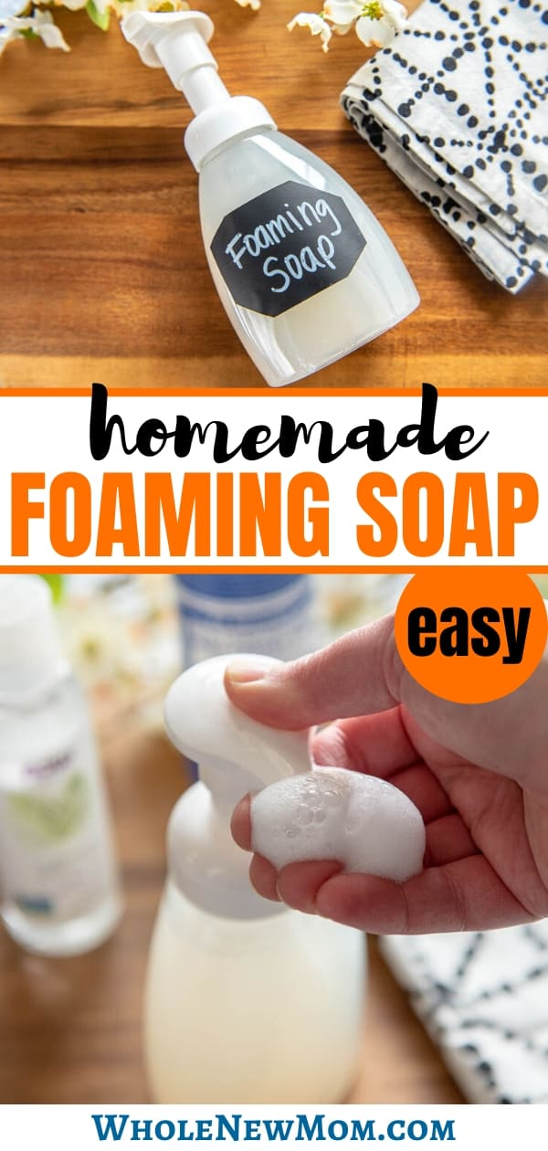 homemade foaming hand soap and hand pumping foaming soap