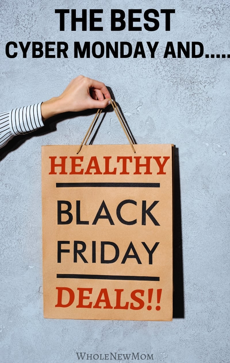 healthy black friday deals written on brown paper shopping bag
