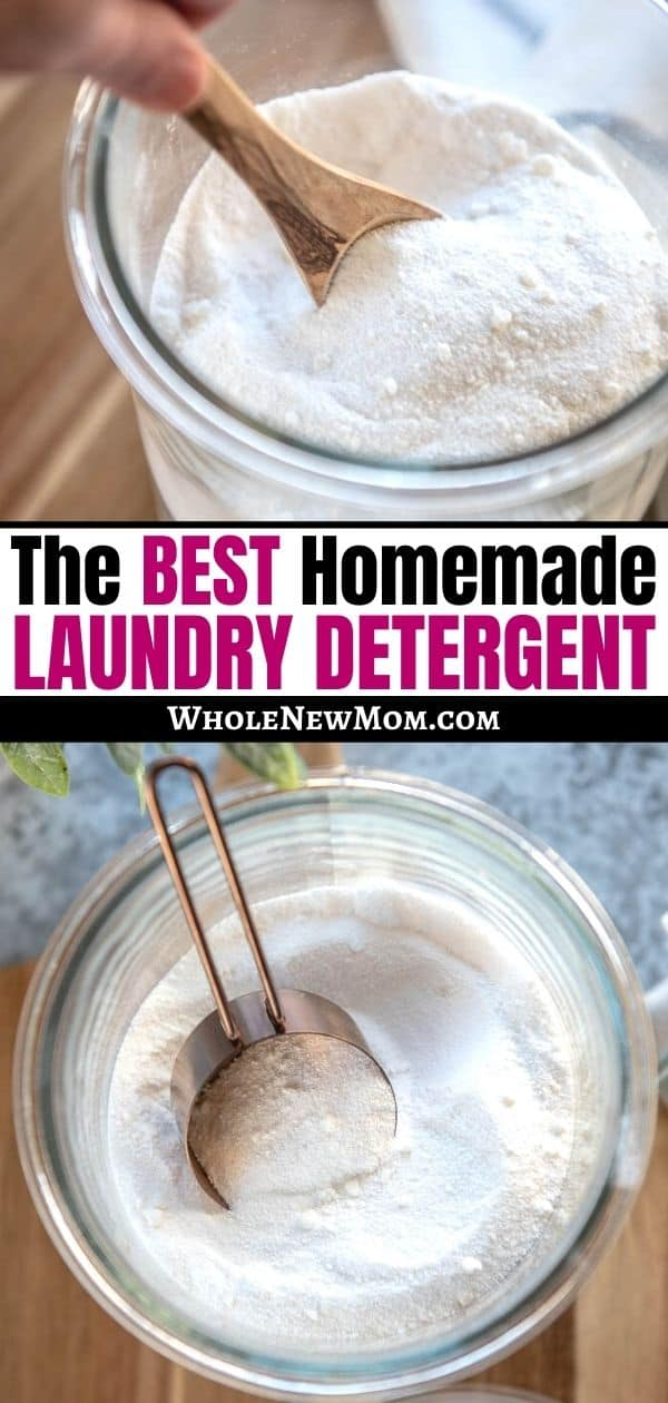 Pinterest collage for Homemade Laundry Detergent post