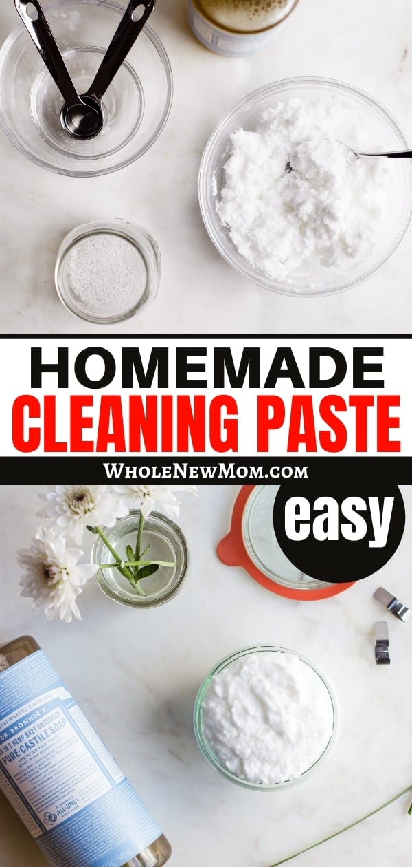 pinterest image for homemade cleaning paste