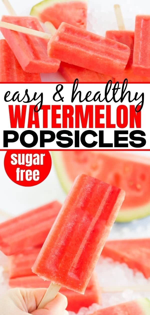 Pinterest collage of watermelon popsicles