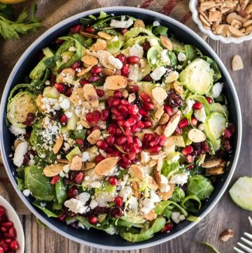 brussels sprouts salad in a bowl