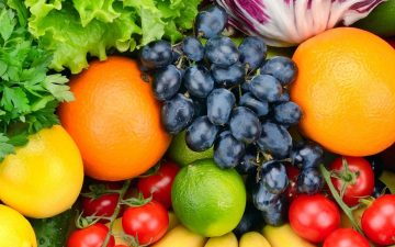 close up of fruits and vegetables