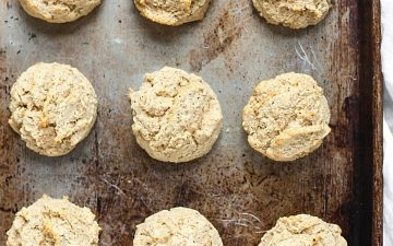 drop biscuits on a baking tray