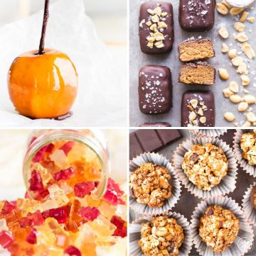 collage of four different halloween treats