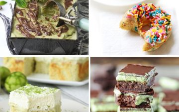 collage of four different desserts perfect for St. Patrick's Day