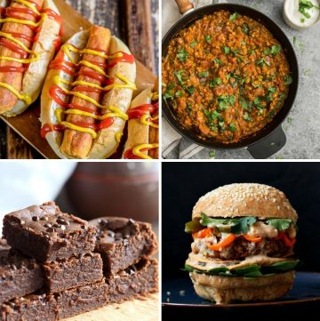 collage of four different lentil recipes