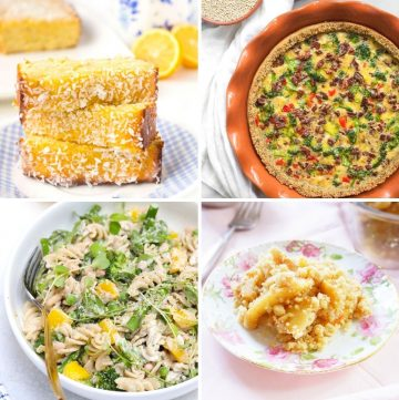 collage of four different recipes perfect for mother's day