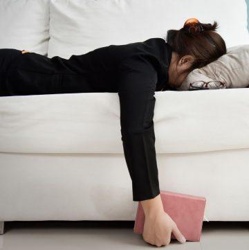 woman lying face down