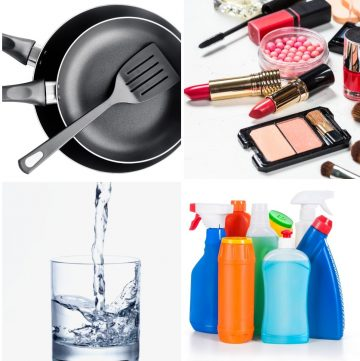 collage of items that can help you detox your home