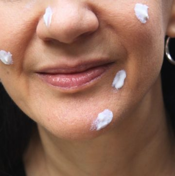 face with spot cream