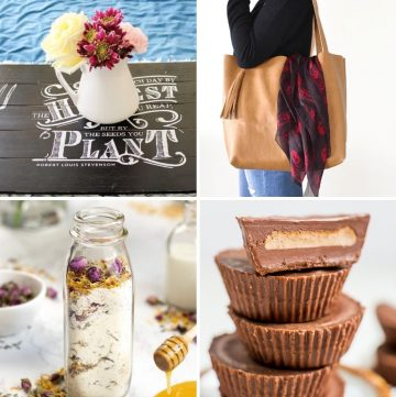collage of four mother's day gift ideas