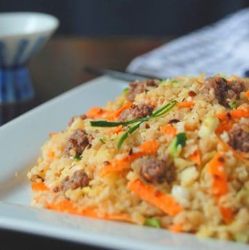 bibimbap on a plate