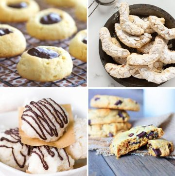 collage of different healthy Christmas cookies